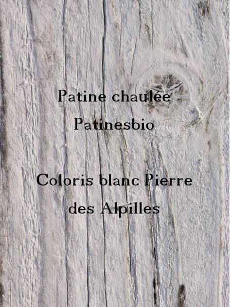 patine chaulée blanc pierre des alpilles