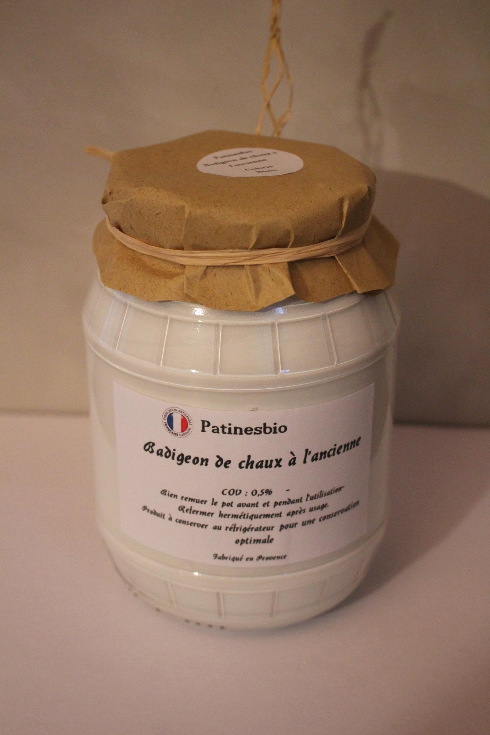 badigeon de chaux blanc à la chaux 950ml
