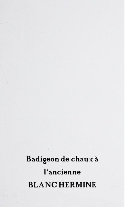 Badigeon blanc hermine 1