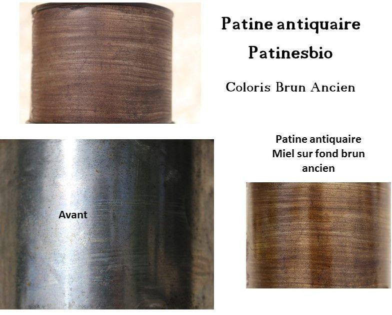 patine antiquaire brun ancien