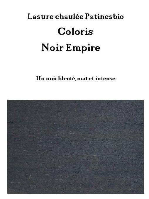 lasure chaulée Noir Empire rendu