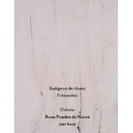 badigeon  rose poudre de nacre sur bois