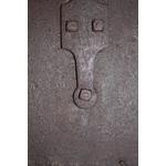 patine antiquaire brun ancien sur métal rouillé