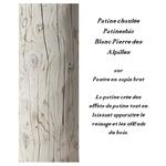 patine chaulée blanc pierre des alpilles sur poutre en sapin