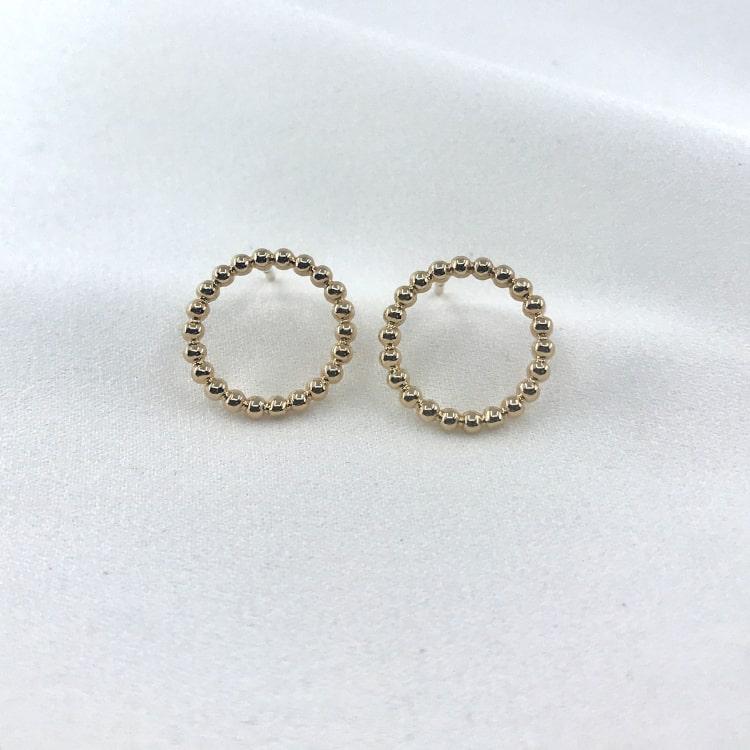 BO Lola boucles d'oreilles plaqué or cercle perlé