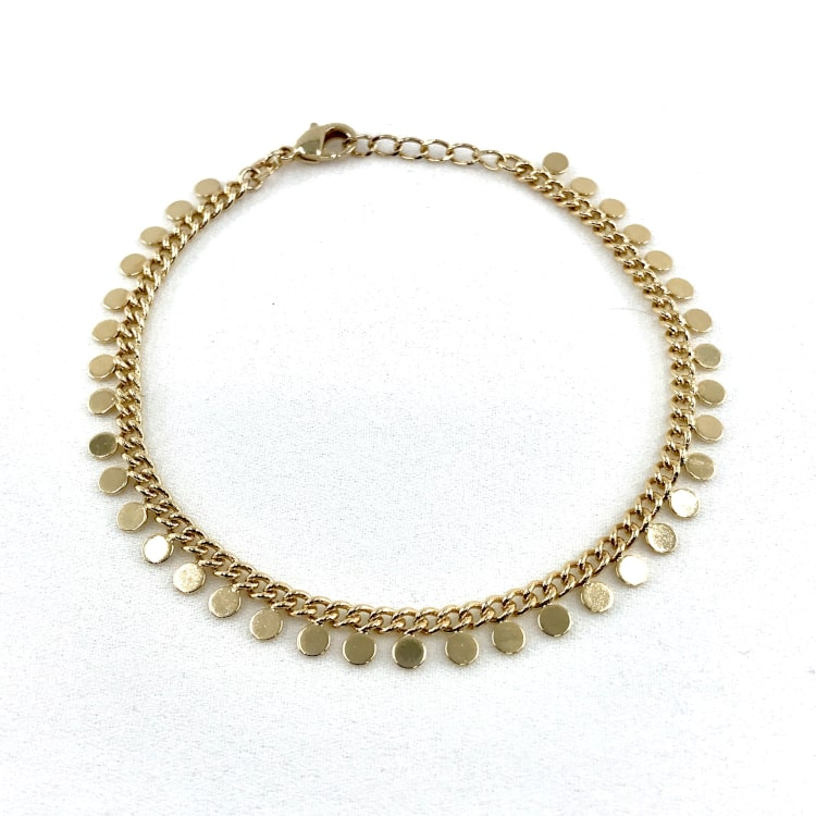Bracelet Vera plaqué or pampilles