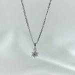 Collier Helene argent pendentif soleil