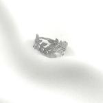 Bague GARANCE argent feuilles lauriers