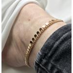 bracelet - chaine de cheville en plaqué or 3 microns pampilles