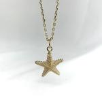 Collier Izar en plaqué or 3 microns composé d'une chaine fine et d'un pendentif en forme d'étoile de mer