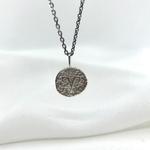 Collier Astro argent pendentif médaillon rond signe astrologique astrologie