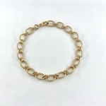 Bracelet Flavie plaqué or grosse maille xl