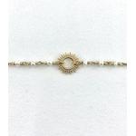 Bracelet Laura plaqué or soleil perles deau douce