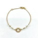 Bracelet Laura plaqué or soleil perles d'eau douce