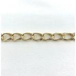 Bracelet Ines plaqué or grosse maille xl ondulée