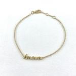 Bracelet Amour plaqué or