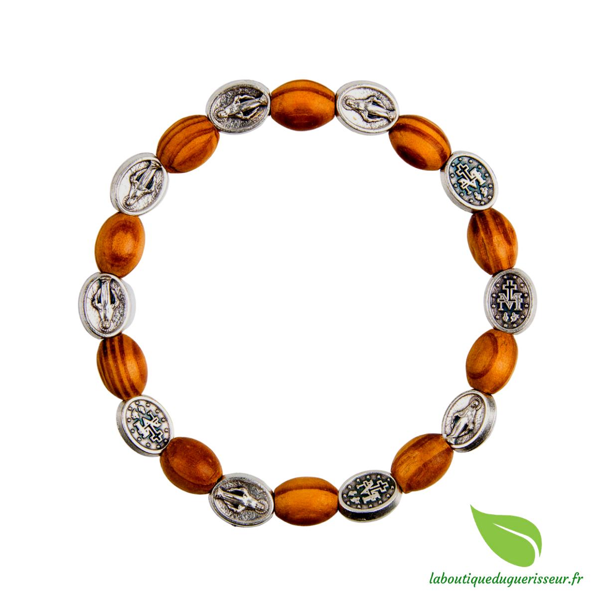 Bracelet Dizainier Bois d\'Olivier Vierge Miraculeuse