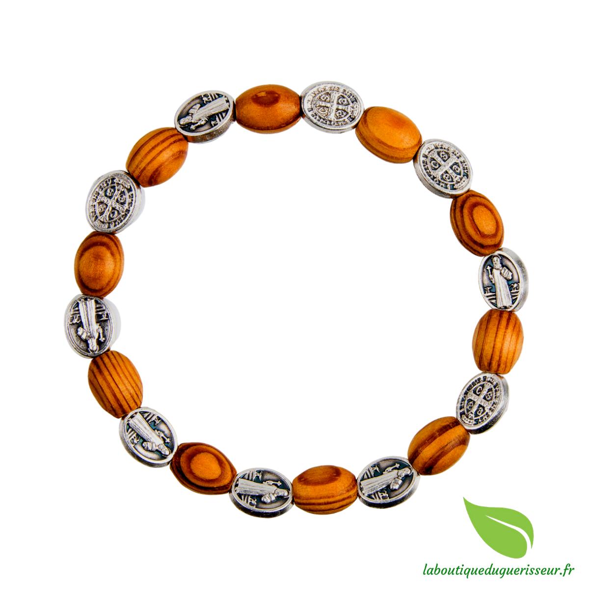 Bracelet Dizainier Bois d\'Olivier Saint Benoît