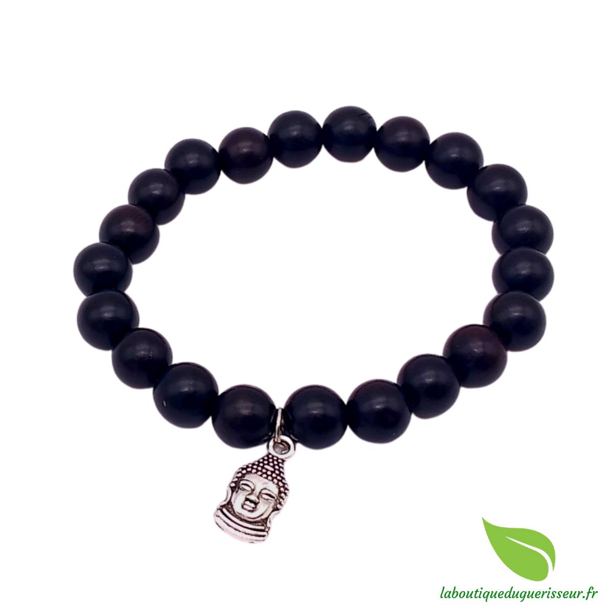 Bracelet Bois Noir Bouddha