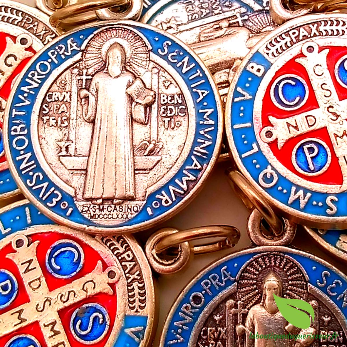 Médaille Saint Benoît Colorée