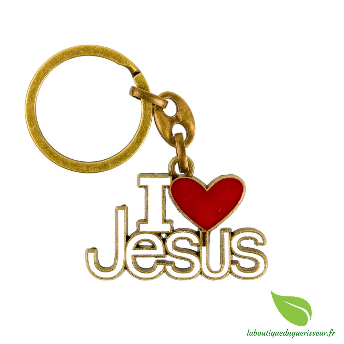 Porte Clés I Love Jésus