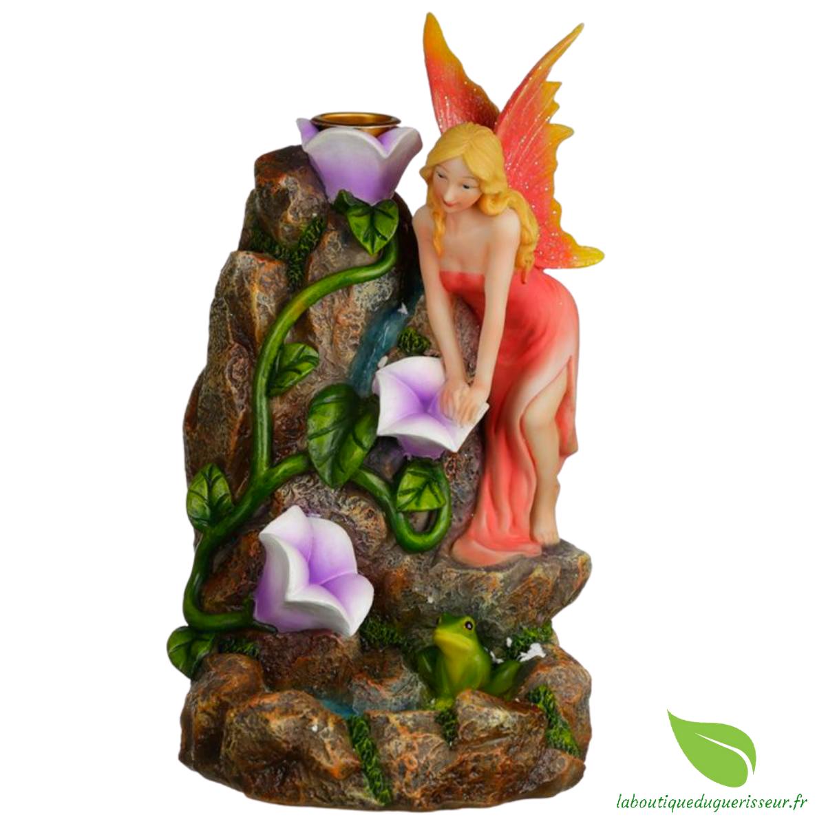Fontaine à Encens Jardin Fleuri Cascade des Fées