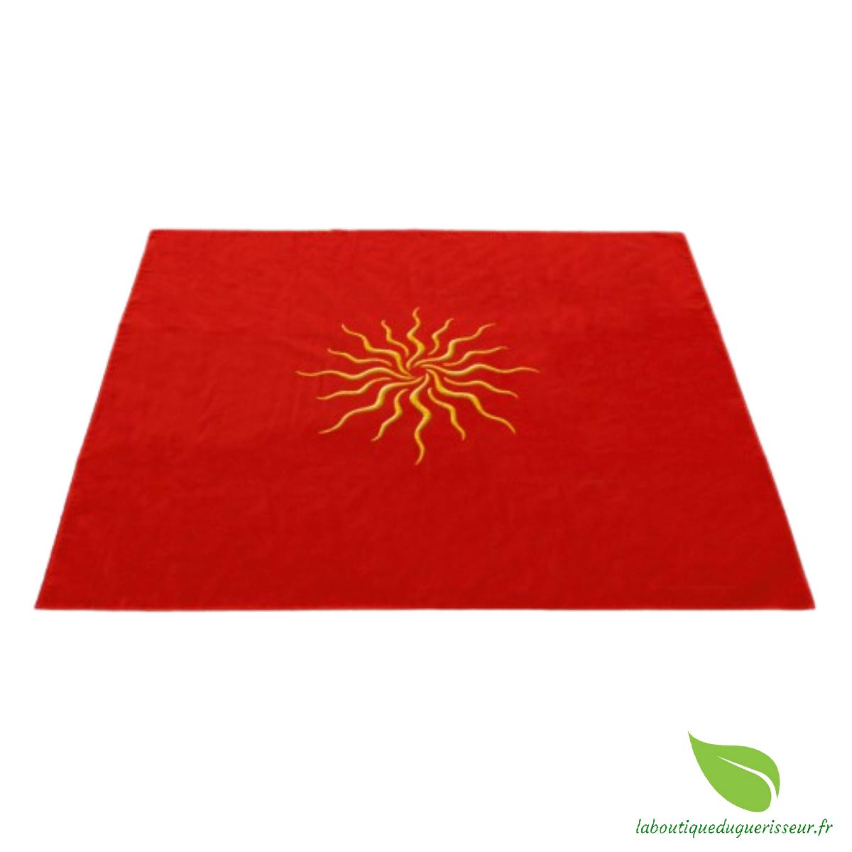 tapis tarot velour soleil
