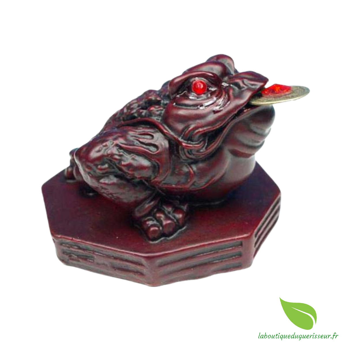 Grenouille Feng Shui de Porspérité Rouge