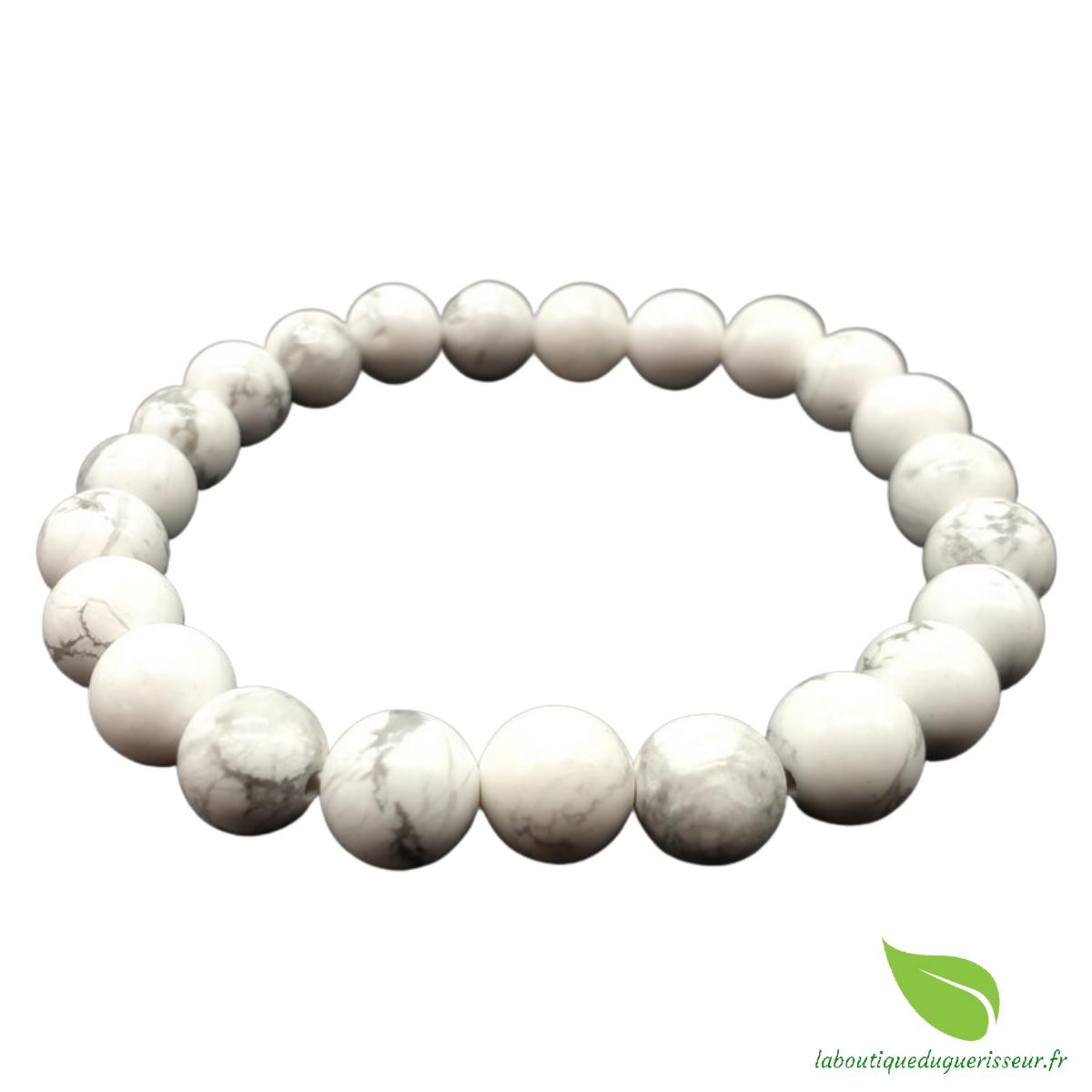 Bracelet Howlite Perles 8mm