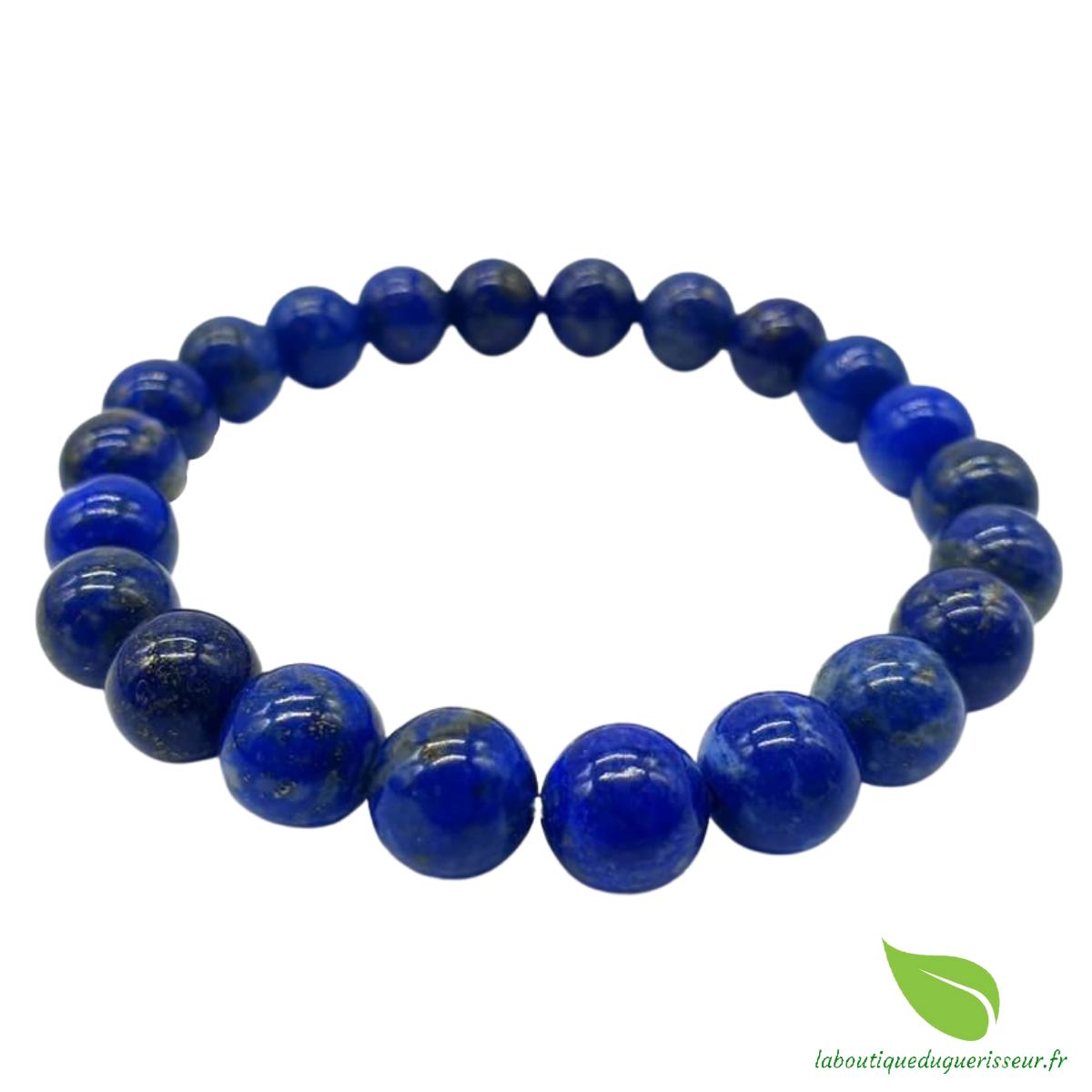 Bracelet Lapis Lazuli Perles 8mm