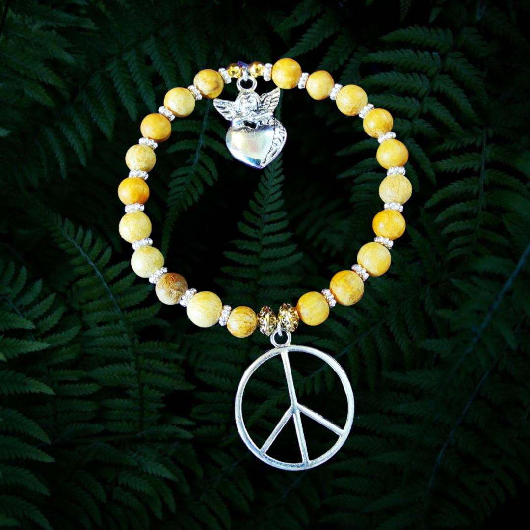 Bracelet de la Paix en perles de Palo Santo