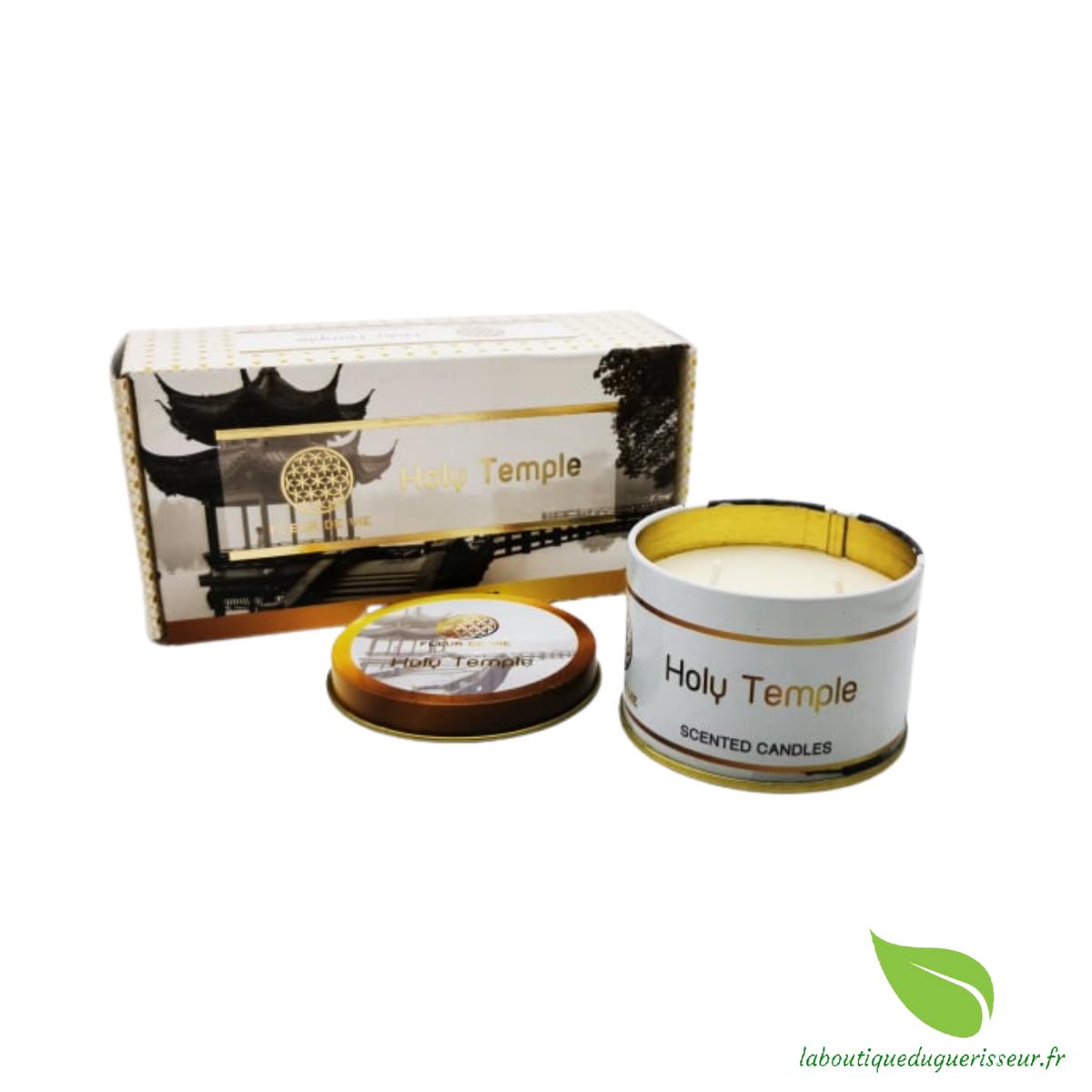 Bougie aux huiles Essentielles - Temple Sacré - FLEUR DE VIE