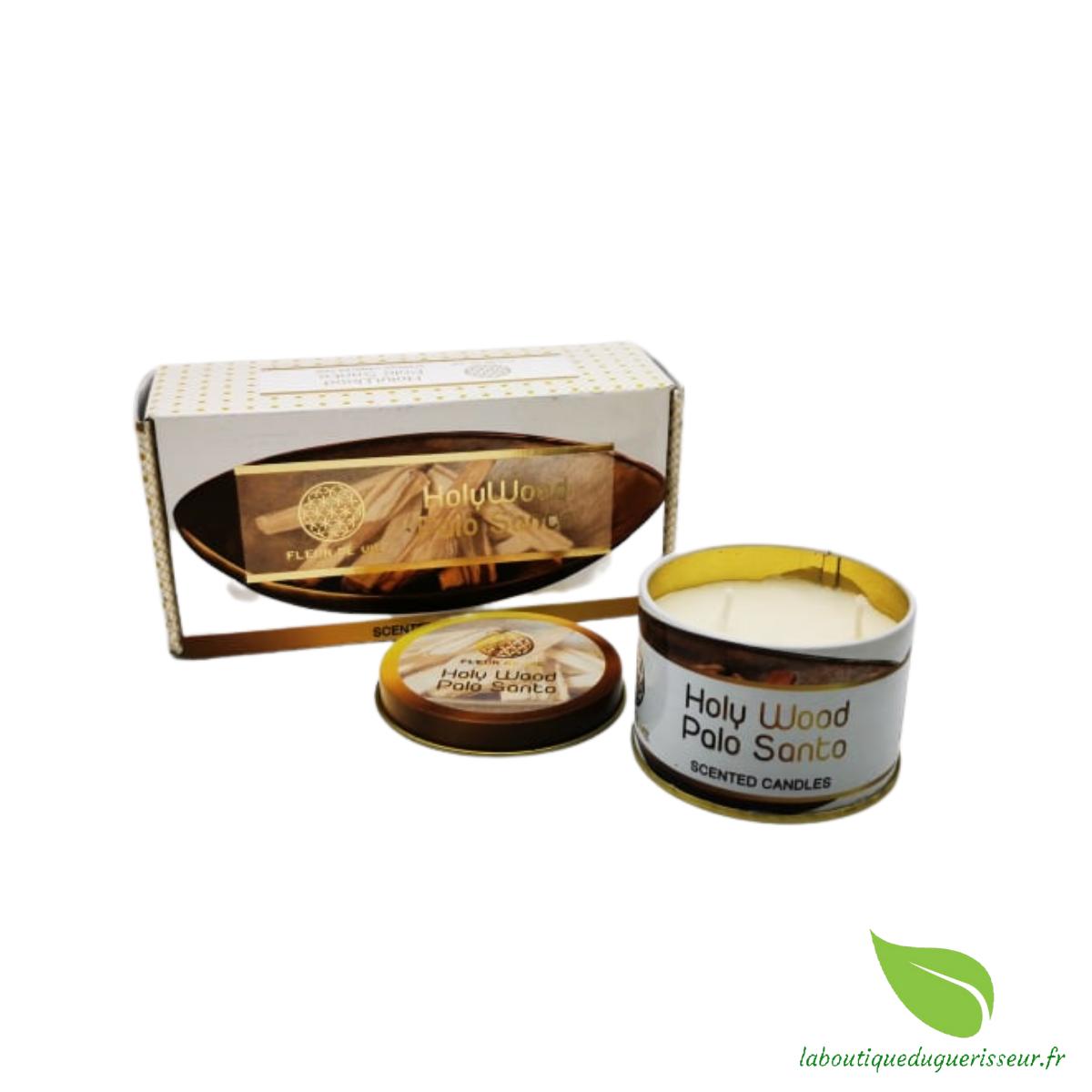Bougie aux huiles Essentielles - Palo Santo - FLEUR DE VIE