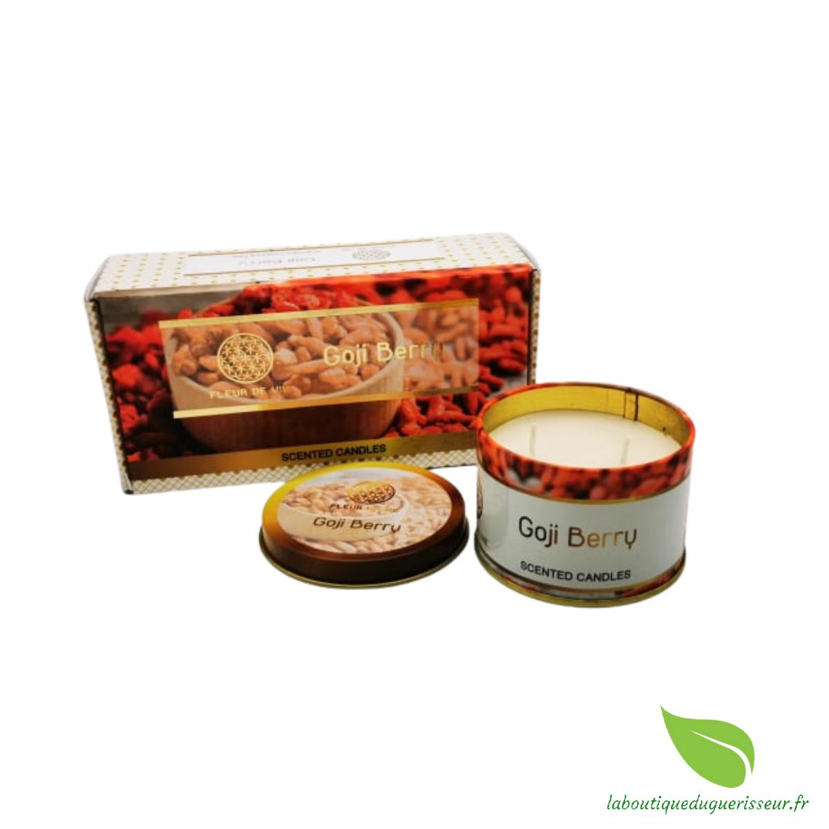 Bougie aux huiles Essentielles - Baies de Goji - FLEUR DE VIE
