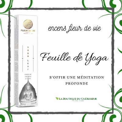 Encens Fleur de Vie Feuille de Yoga