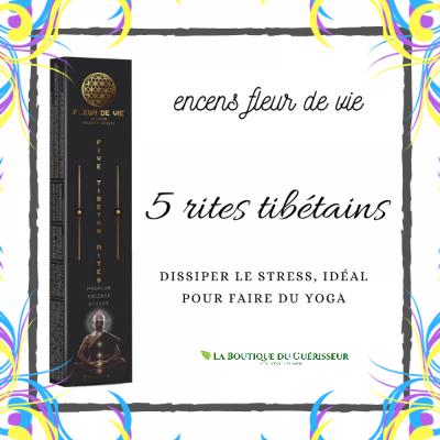 Encens Fleur de Vie 5 Rites Tibétains