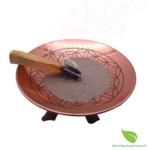 Assiette cuivre fleur de vie  (2)