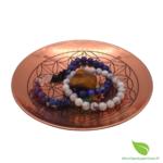 Assiette cuivre fleur de vie  (6)