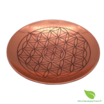 Assiette cuivre fleur de vie  (7)