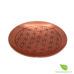 Assiette cuivre fleur de vie  (1)