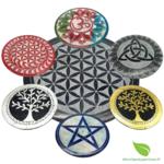porte encens pierre rond couleurs (1)