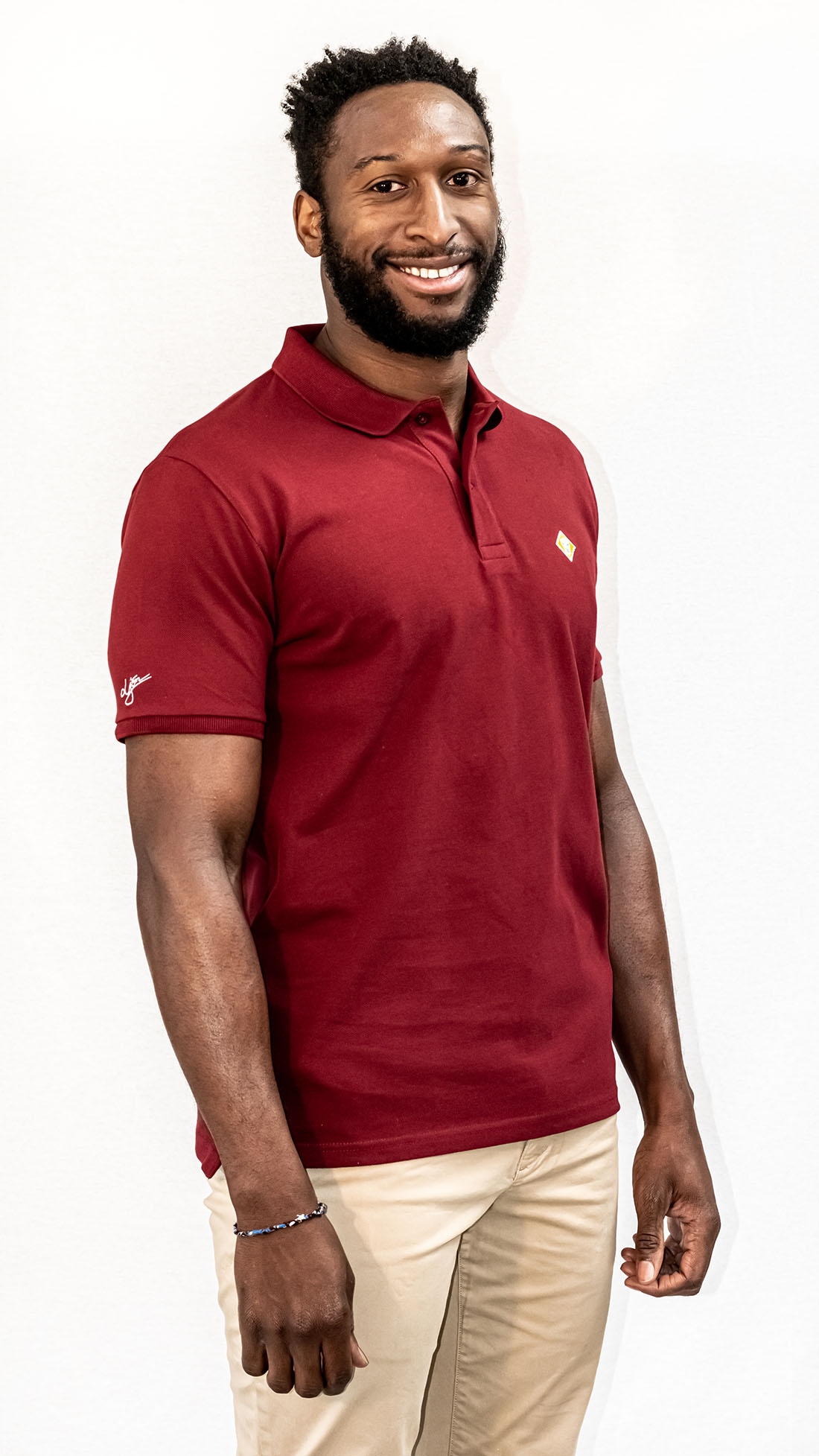 Polo LJÓN BASIC BORDEAUX
