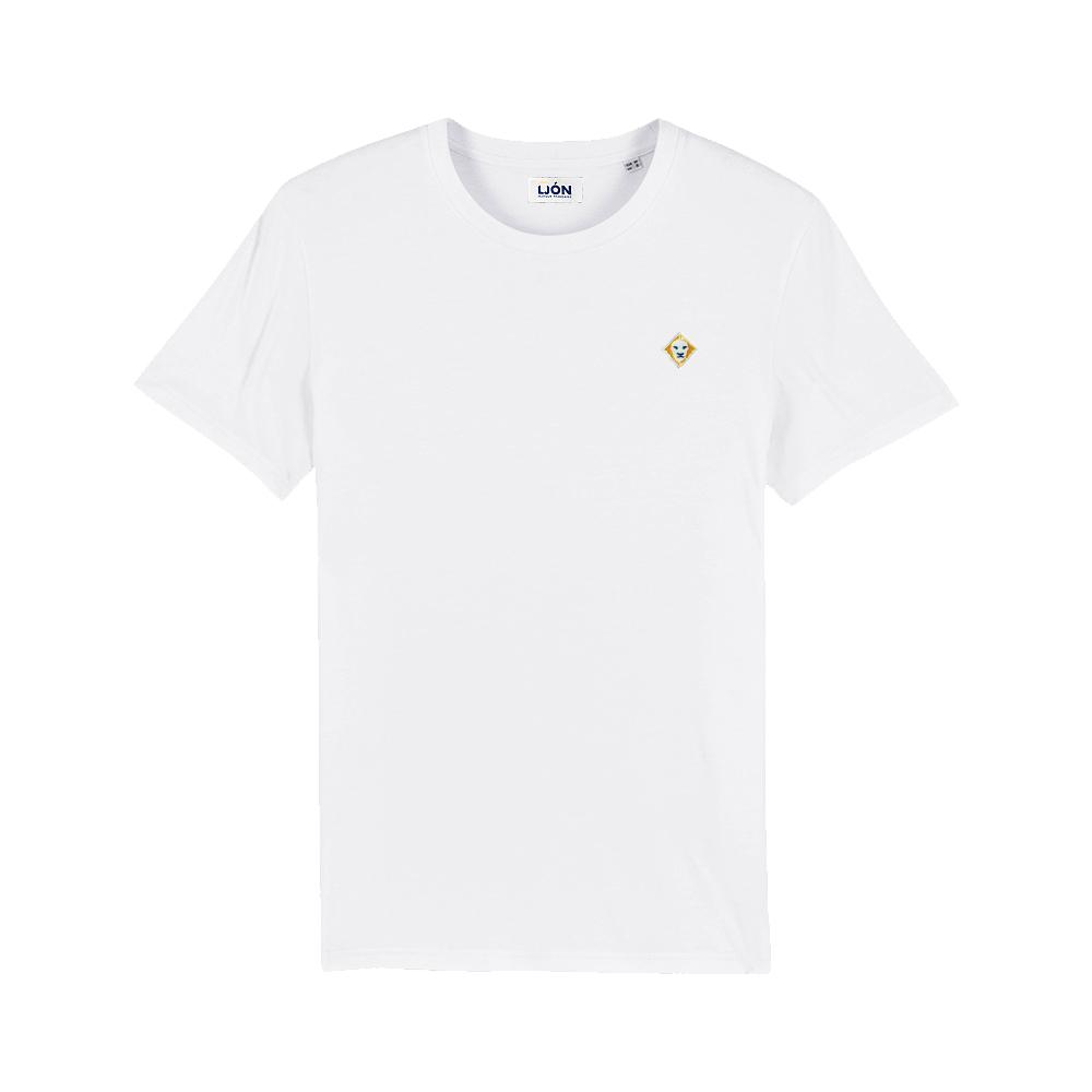 T-Shirt à col rond uni BLANC