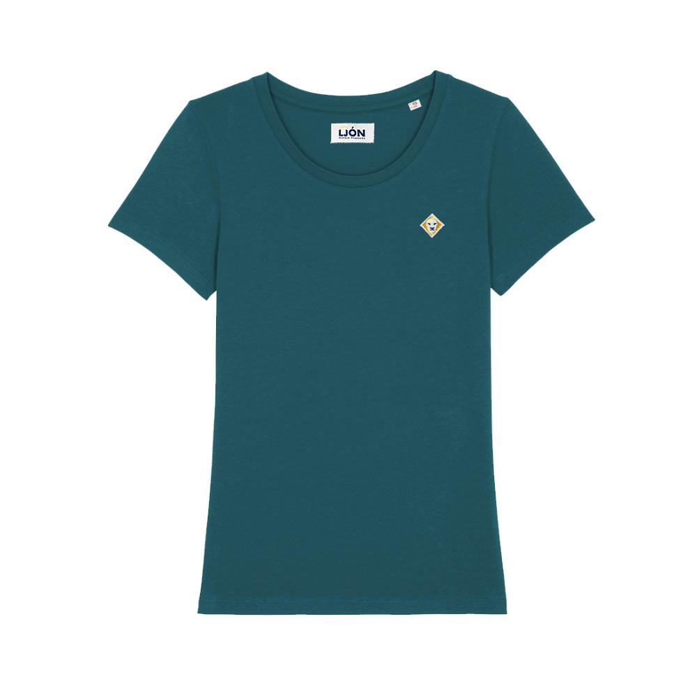 T-Shirt à col rond uni BLEU TEAL