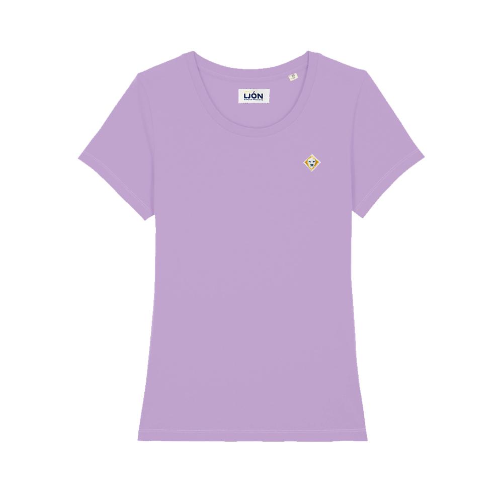 T-Shirt à col rond uni LAVANDE