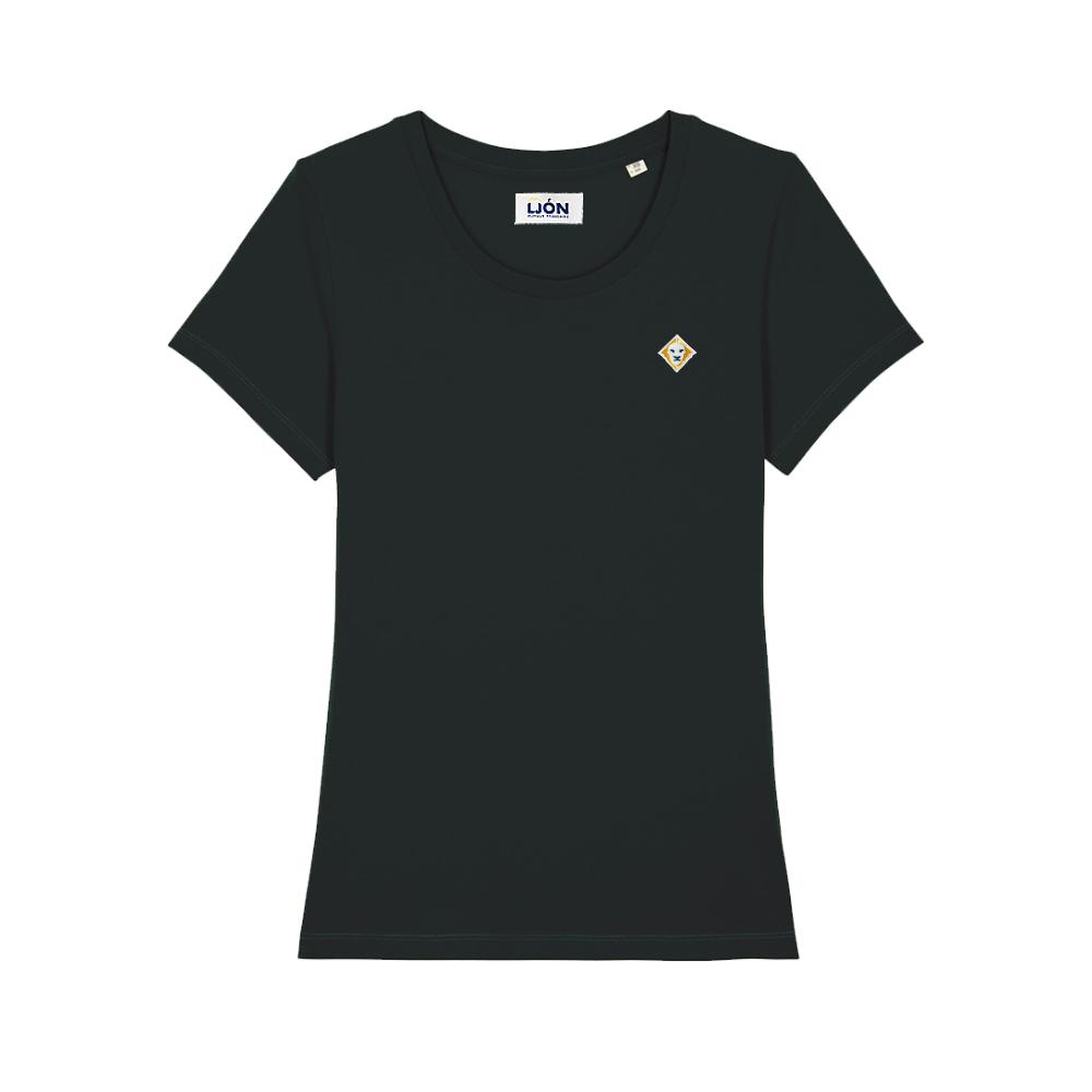 T-Shirt à col rond uni NOIR