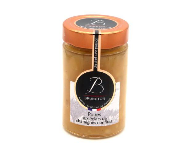 Poires aux éclats de châtaignes confites (pot de 230 grammes)