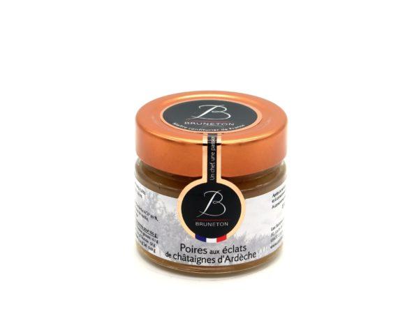 Poires aux éclats de châtaignes confites (pot de 100 grammes)