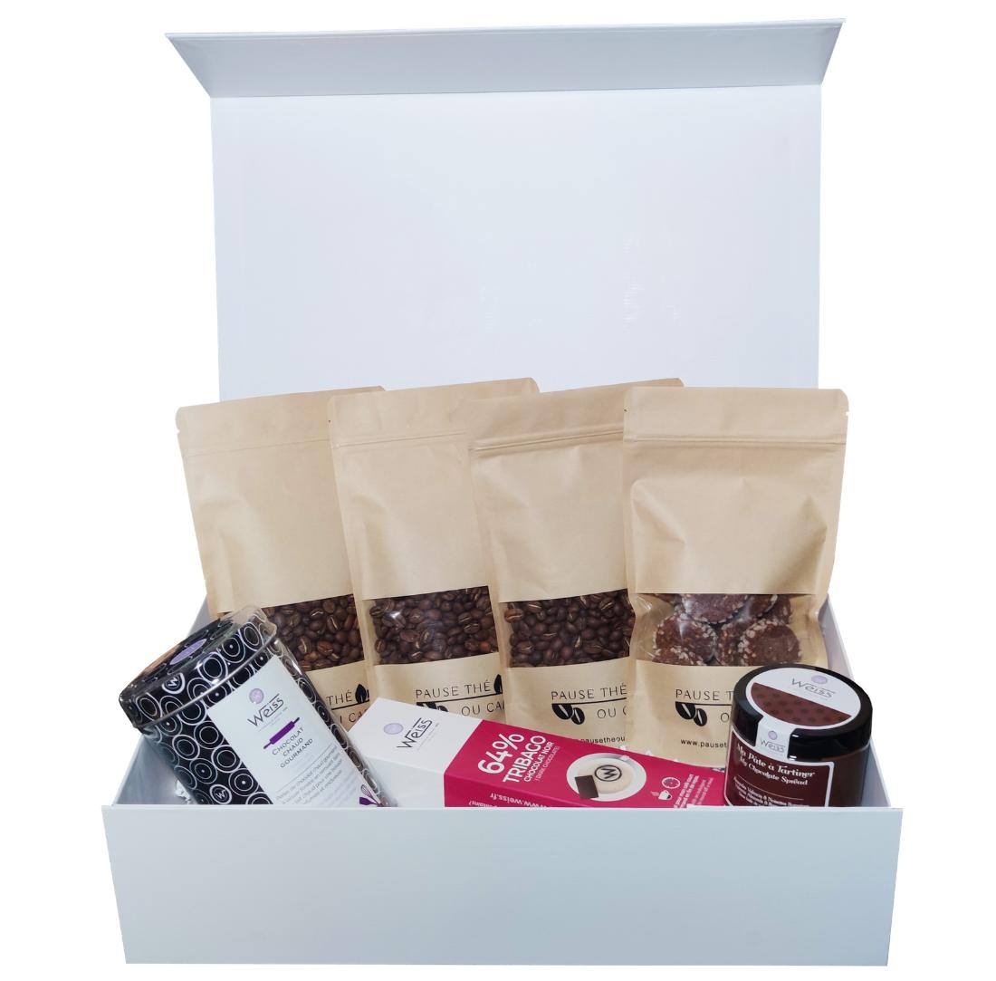 Coffret Gourmand : Cafés - Chocolat