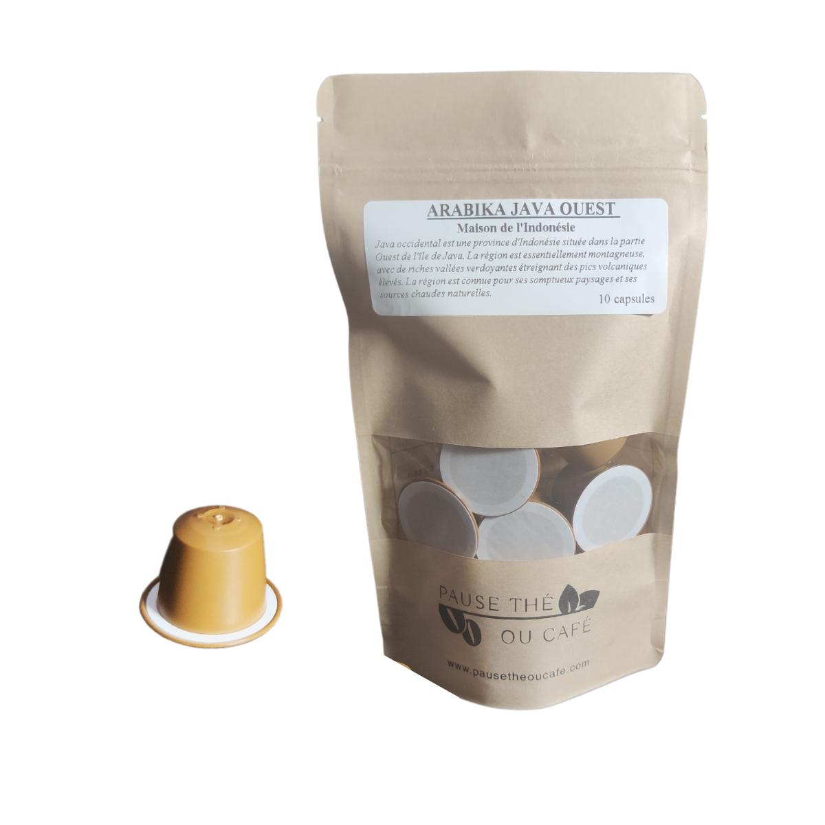 Café Volcanique Arabika Java Ouest capsules compatibles Nespresso® x10